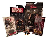 Bundle - 5 Products: Thor Marvel Legends Infinite Series, Marvel Avengers Infinite Series Thor Figure - 3.75 Inches, Funko Thor Marvel Mini Mystery Bobble Head, Marvel Thor Hammer Pewter Key Ring, Diamond Select Toys Marvel Thor's Hammer Sculpted Bottle Opener