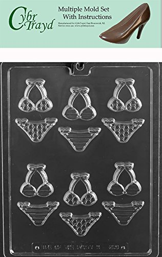 Clear CybrTrayd M250-6BUNDLEBite Size Bikinis Chocolate Candy Mold