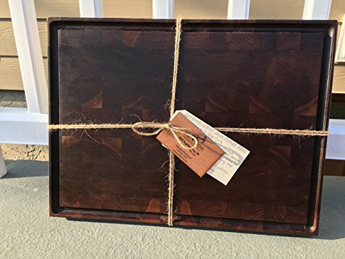 (Handmade Walnut End Grain Butcher Block (LARGE))