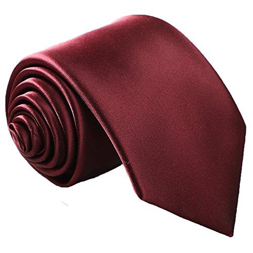 Gift Necktie (Fortunatever Classical Men's Solid Necktie With Gift Box (Burgundy Red))