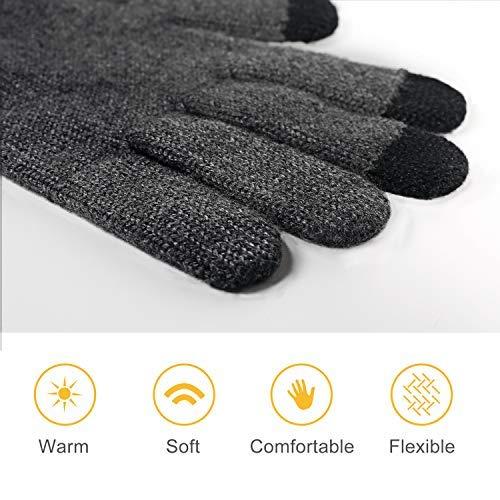44b090a31dd43d 4UMOR Winterhandschuhe Touchscreen Handschuhe Strick Fingerhandschuhe Sport  Warm und Winddicht Winterhandschuhe für Skifahren Radfahren und SMS,bestehen  aus ...