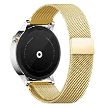 18MM 20MM 22MM Watch Bands Pinhen Milanese Loop Magnet Mesh Stainless Steel Watch Band For Huawei LG Withings Activité Samsung Moto 360 Smart Watch (18MM Gold)