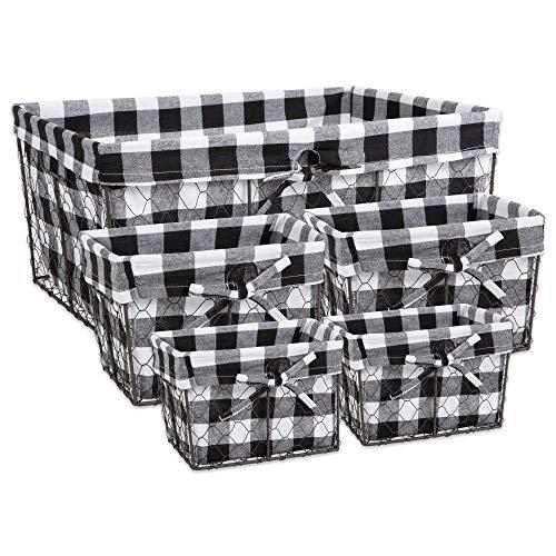 black basket with liner - 3