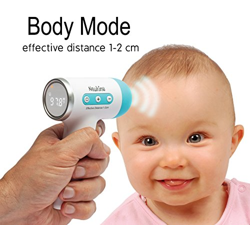 Non-Contact Digital Infrared Forehead Baby Thermometer by NewKins: Accurate, Instant Read Medical Thermometer – Top Safety Body Newborn Infant Child Kids Adult Thermometer – FDA Approved