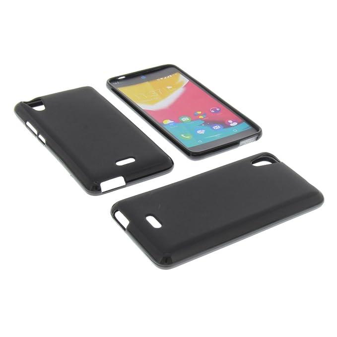 1 opinioni per Custodia per cellulari Wiko Rainbow Jam 4G in gomma TPU di colore nero