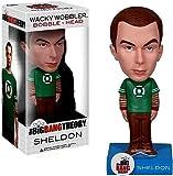 Funko Big Bang Theory Wacky Wobbler Bobble Head Sheldon Green Lantern Shirt