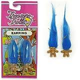Rainbow Troll Earrings Blue