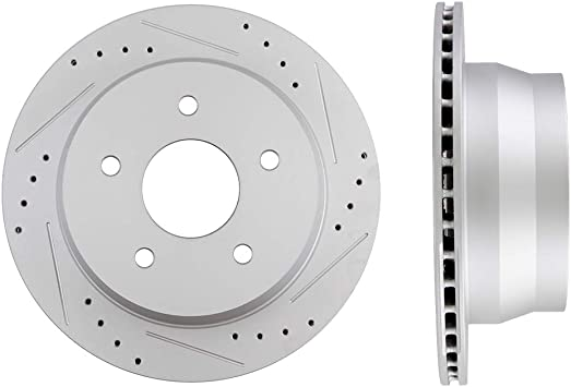 Rear Drilled And Slotted Brake Rotors For Chevy S-10 Blazer Pickup Jimmy Sonoma