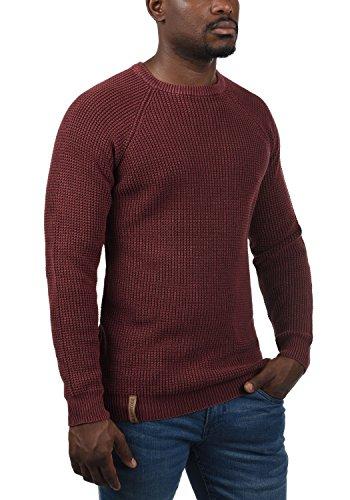 Bordeaux Indicode tricoté Rockford du Pullover Chunky cou pour 201 col homme ras xOxnSwqd