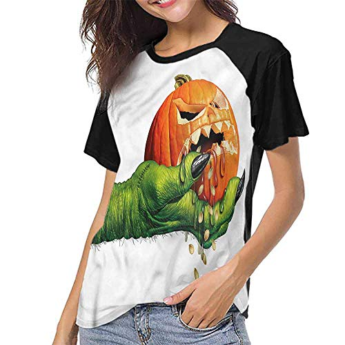 T Shirts,Pumpkin,Scary Halloween Monster S-XXL Womens Shorts]()