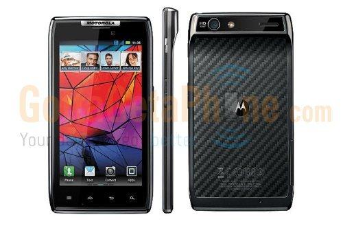V3 Models Phone Razr Cell - Motorola Droid RAZR 4G LTE Android Smartphone Verizon (black)