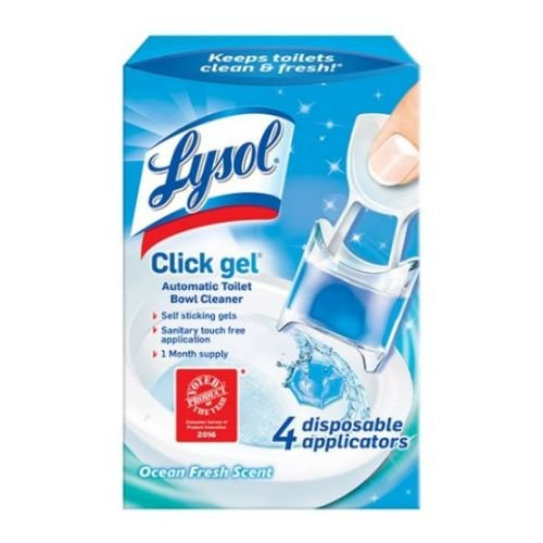 Lysol Automatic Toilet Bowl Cleaning Click Gel, Ocean Fresh Scent, 4 Count (Pack of ()
