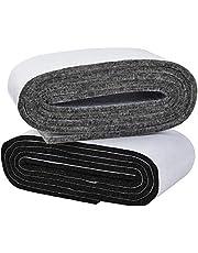 Irich 2 stuks 100 cm zelfklevende vilten tape, viltglijders, viltpads voor doe-het-zelf meubelglijders, meubelpoten, tafelpoten, stoelpoten (donkergrijs, grijs)