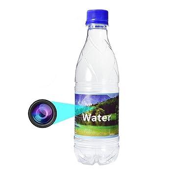 Cikuso Grabacion de Audio HD 1080P Camara espia de Seguridad Oculta Movimiento de Botella de Agua DVR: Amazon.es: Electrónica