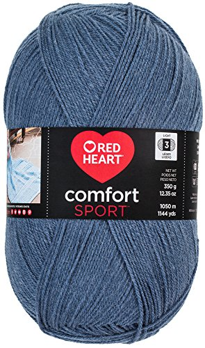 (Red Heart Comfort Sport Yarn, Denim)