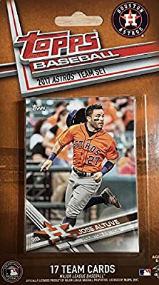 Houston Astros 2017 Topps Factory Sealed Special Edition 17 Card Team Set with George Springer and Carlos Correa Plus