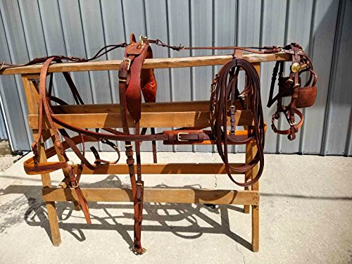 New Finest Russet Brown Horse Size Driving Harness with Brass (Driving Harness)