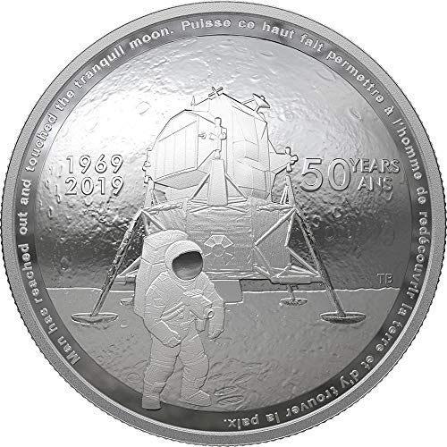 2019 CA Modern Commemorative PowerCoin MOON LANDING 50th Anniversary Dome 1 Oz Silver Coin 25$ Canada 2019 Proof