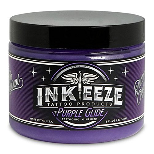 INK-EEZE Purple Glide Non-Petroleum Tattoo Ointment 6oz Jar - Purple Tattoo