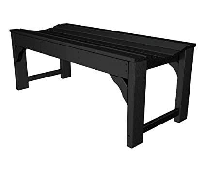 poly wood furniture bench inch polywood rockford patio for