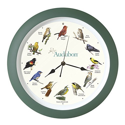 Mark Feldstein & Associates Audubon Singing Bird Clock, 13 by Mark Feldstein