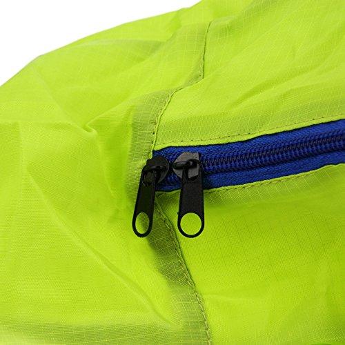 FakeFace Faltbare Nylon Damentasche Henkeltasche Schultertasche Umhängetasche Weich Shopper für Reise Camping Wandern Sport Einkaufen Shopping (Grün) Grün
