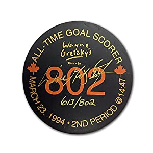 Autographed Wayne Gretzky Puck Ltd. Ed. /802 - Edmonton Oilers