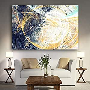 Geiqianjiumai Líneas geométricas abstractas Pintura al óleo ...