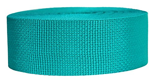 Strapworks Lightweight Polypropylene Webbing - Poly Strapping for Outdoor DIY Gear Repair, Pet Collars, Crafts - 2 Inch x 25 Yards - Teal