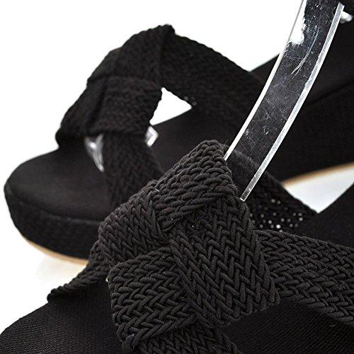 Pour Noir Femme Insun Insun Sandales Sandales SpwqYnt