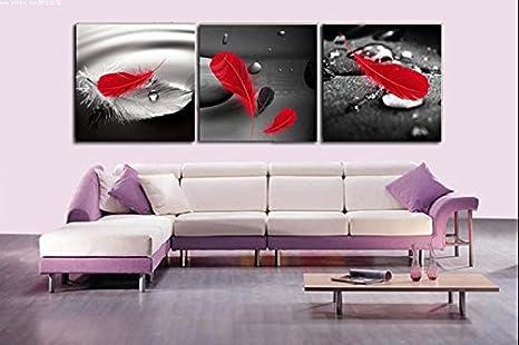Amazon.com: Mon Kunst abstracto arte en fondo negro rojo de ...