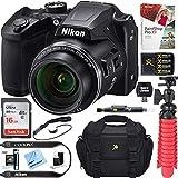 Nikon COOLPIX B500 16MP 40x Optical Zoom Digital Camera w/Built-in Wi-Fi NFC & Bluetooth + 16GB SDHC Accessory Bundle (Black)