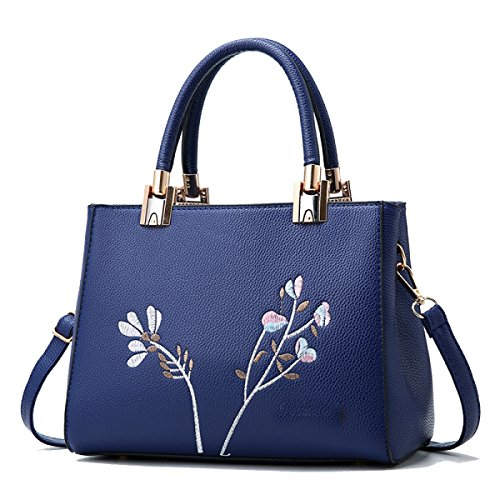 Da Maturo Ricamo Retro Messenger Tracolla Wu Zhi Blue Ladies A Borsa Bag wn6Z4ZWUq