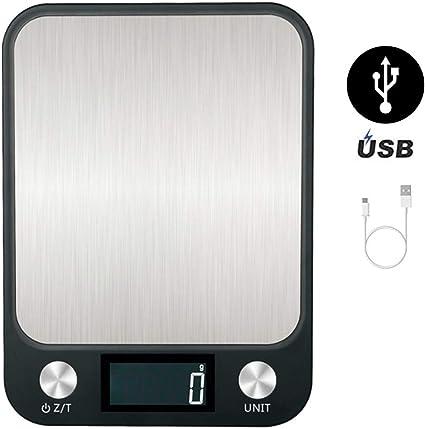 Digitale Küchenwaage 1g 10kg Edelstahl Haushalt Lebensmittel Waage Essenswaage