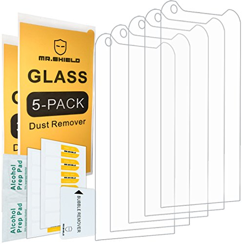 [5-Pack]- Mr Shield for Kyocera DuraForce PRO [Tempered Glass] Screen  Protector [0 3mm Ultra Thin 9H Hardness 2 5D Round Edge] with Lifetime
