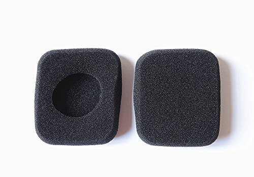 Mokoo 3 Pairs Replacement Earpad Foam Ear Pad Sponge Covers for GOgroove AirBand Wireless Bluetooth Stereo TV Headset and B&O Headphones Headset with MOKOO Logo Cable Pouch