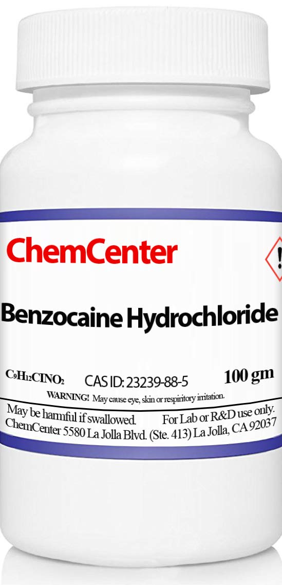 Benzocaine Hydrochloride (HCl), High Purity, 100 grams