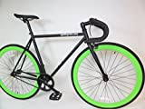 Black and Lime Green Fixie with Drop Bars Single Speed Fixie Bike with Flip Flop Hub By Sgvbicycles Fixies