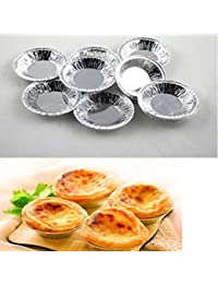 Acquisition 1Sets of 50 Pcs Mini Kitchen Disposable Baking Egg Tarts Cake Cups Cake Lined Mould Cookie Baking Tin Foil Cup... save