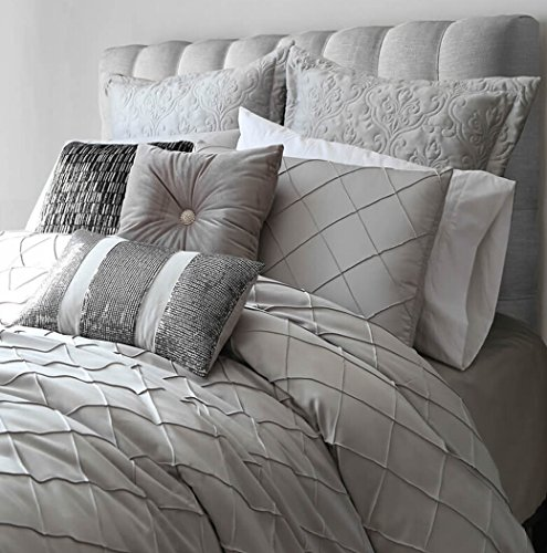 "Queen Duvet Cover Sets Cotton Faux Silk, Adream Handmade Comforters(86""X94"") with Shams 4 PCS, 2 ..."