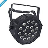 Wireless Stage Lights, LaluceNatz 18LED RGB Portable Par Light with Battery Powered 4 Hours Playing by IR Remote DMX and Sound Activated for Wedding Church Stage Lighting