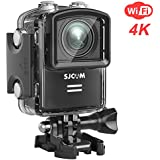 SJCAM M20 Wifi 4K 16MP Action Camera Sony Sensor/Remote Control/Gyro Stabilization/166° Wide FOV Distortion Correction Underwater Camera+ Waterproof Case- Black