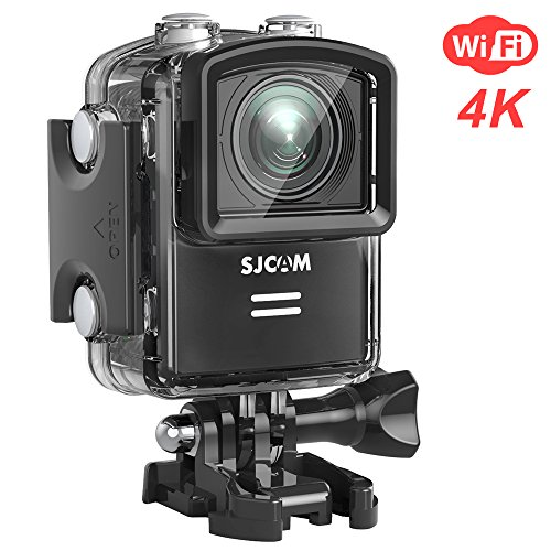 SJCAM M20 Wifi Real 4K Action Camera 16MP Sony Sensor Remote Control Gyro Stabilization 166° Wide FOV Distortion Correction Underwater Camera+ Waterproof Case- Black