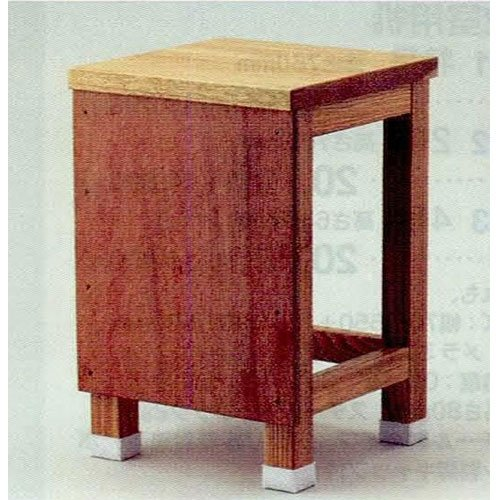 工作椅子 T-45 タモ材 脚ゴム付 B50-2073 B00B7DGGVG
