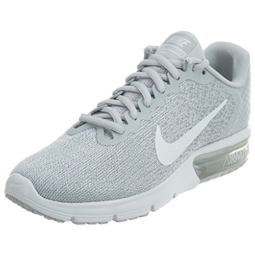 Nike Wmns Air Max Sequent 2, Zapatillas de Gimnasia para Mujer Gris (Pure Platinum/white/wolf Grey/mtlc Platinum)