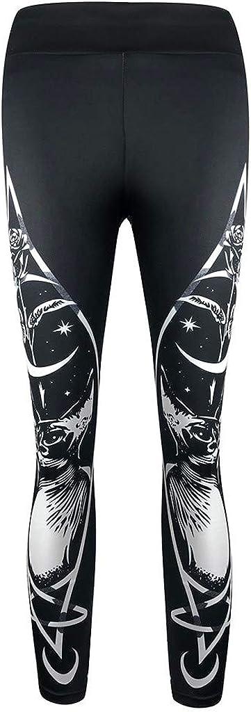 Leggings FNKDOR Femme Gothique Style Yoga Aptitude Pantalons /Étendue Maigre Leggings Goth Impression Collants Sports Pantalon Casual Pants