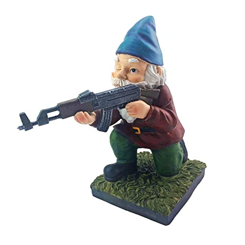 Military Garden Gnome with an AK47 | Funny Army Statue