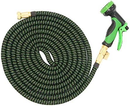 Mangueras de jardín Expandible Agua Manguera Flexible Expandible con Tejido elástico Resistente con Conectores de Cobre (Color : Green, Size : 50ft): Amazon.es: Hogar