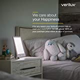 Verilux HappyLight VT32 Touch 10,000 Lux LED Bright White Light Therapy Lamp with Adjustable Color and Brightness Controls, 40 sq. in. Lens Size