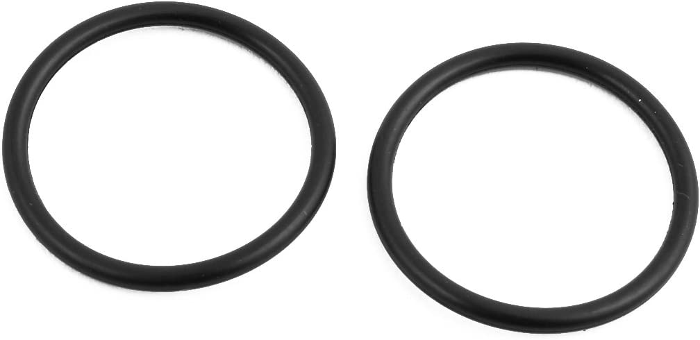 uxcell 10Pcs Black 27mm Dia 2mm Thickness Flexible Rubber O Ring NBR Sealing Grommets